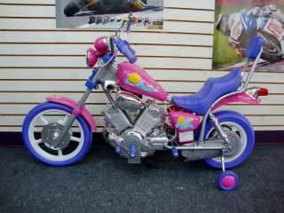 Kids Harley Style Power Ride on Motorcycle 6v wheels Pretty Pink