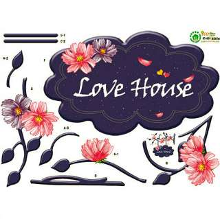 Love House On Door Wall Stickers Home Decor Vinyl Decal